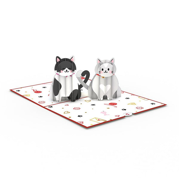 Pop Up Card, Love Cats