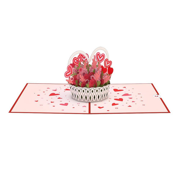 Pop Up Card, Valentines Day Basket