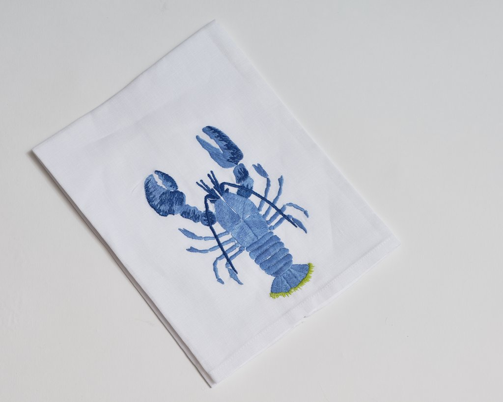 Lobster Tip Towel, Green Tail