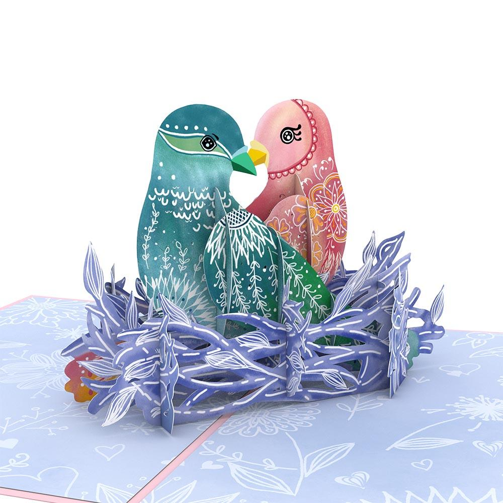 Pop Up Card, Love Birds