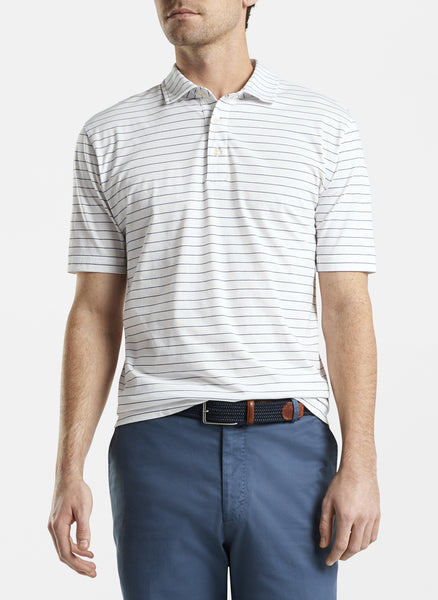 Peter Millar Bluff Aqua Cotton Polo