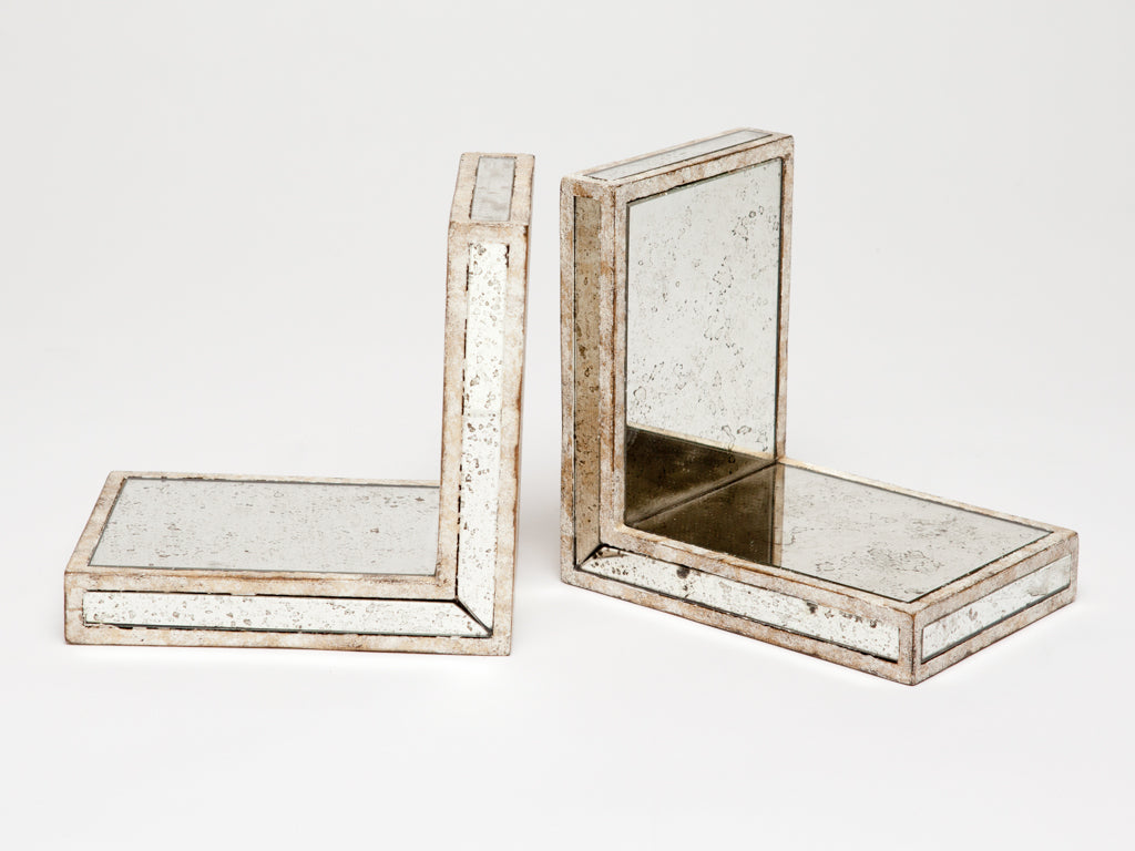Antique Mirror Bookends