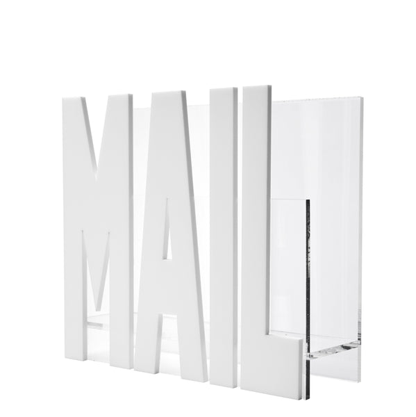 Acrylic Mail Holder, White
