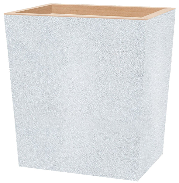 Pigeon & Poodle Manchester Shagreen Rectangular Wastebasket, Cloud Gray