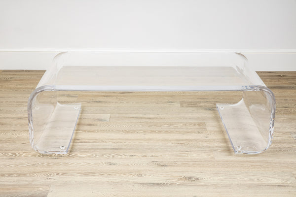 Mandarin Lucite Coffee Table