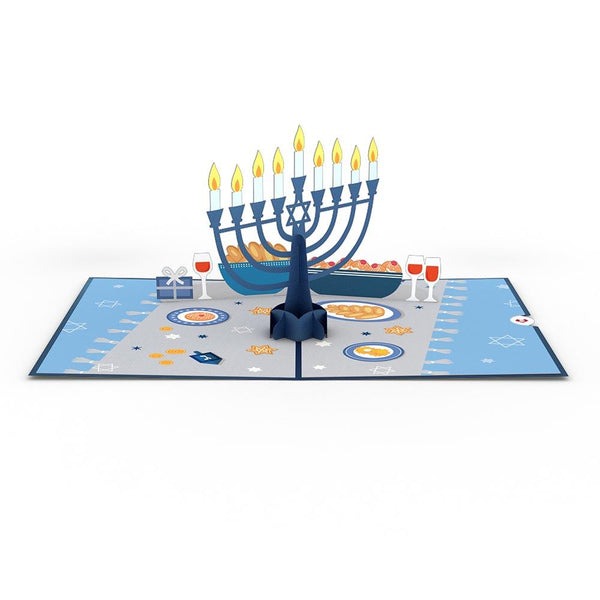 Pop Up Card, Hannukah Menorah Lights