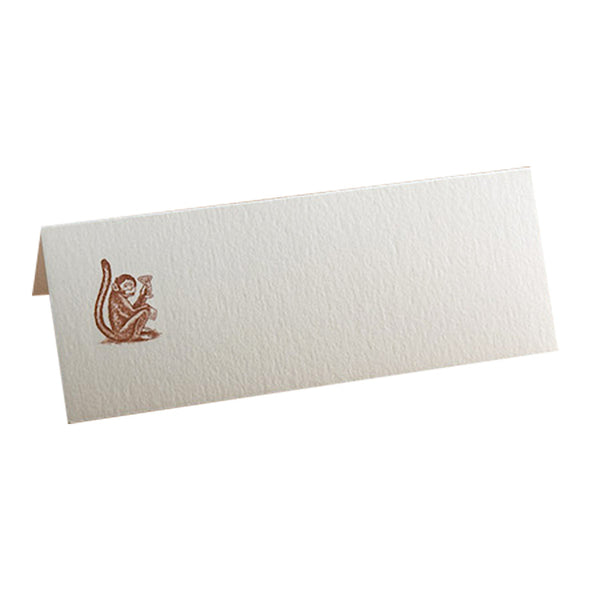 dark brown gin monkey place card