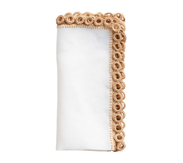 Set of 4 Carnival Crochet Eyelet Napkins