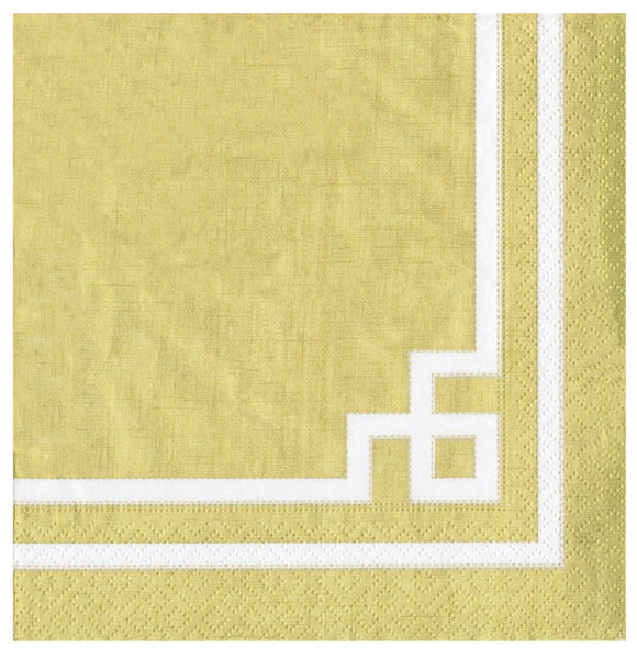 Rive Gauche Gold Cocktail Napkins