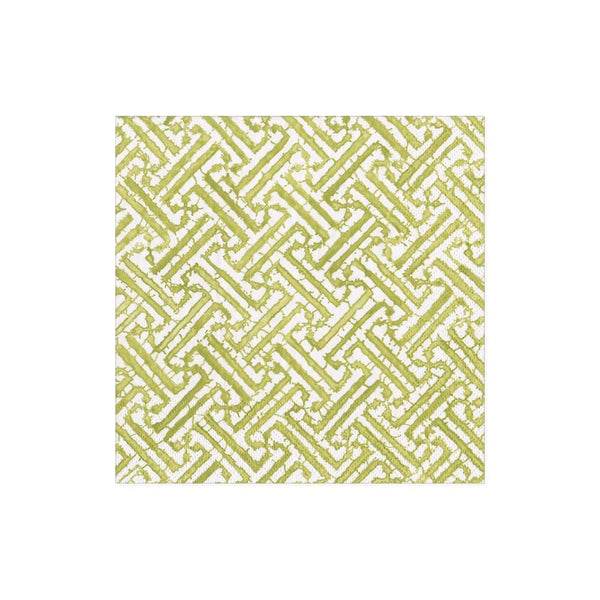 fretwork moss green, cocktail napkin