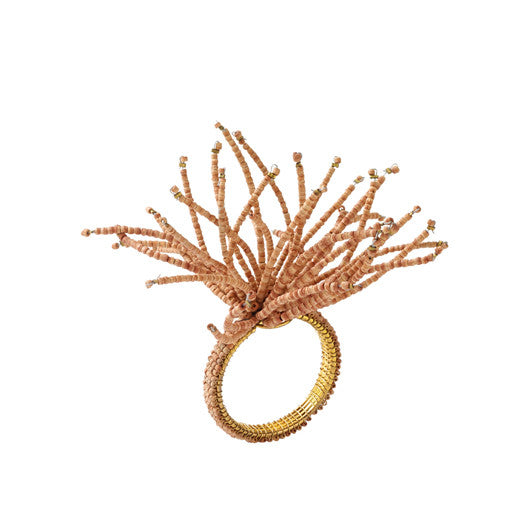 Spider Wood Burst Napkin Ring