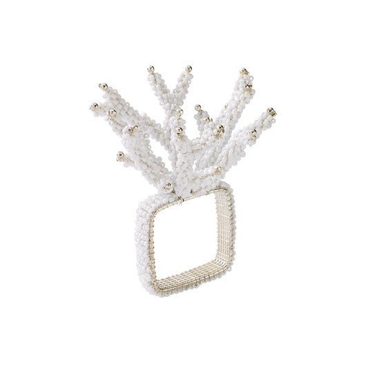 White Coral Branch Napkin Ring
