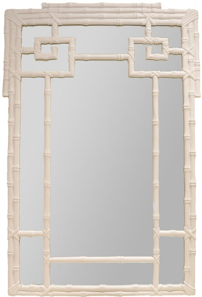 Bamboo Mirror, White