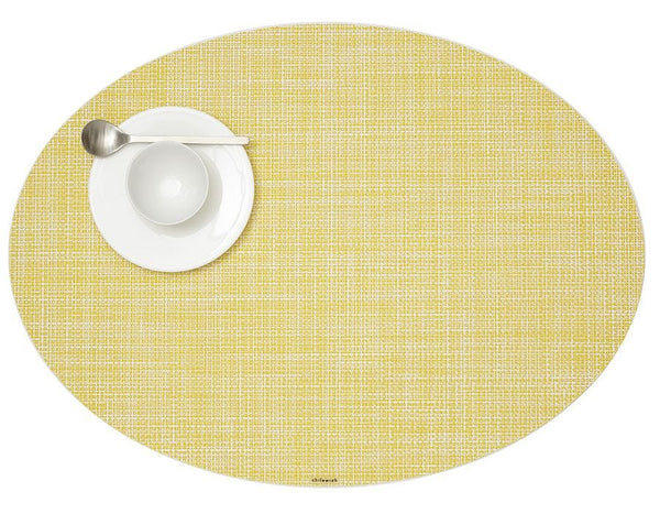 Oval Placemat, Daffodil, Mini Basketweave
