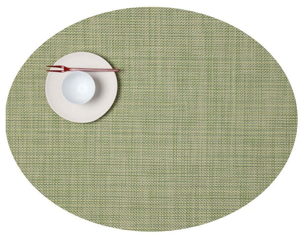 Oval Placemat, Dill, Mini Basketweave