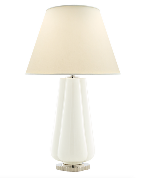 Penelope Table Lamp, White