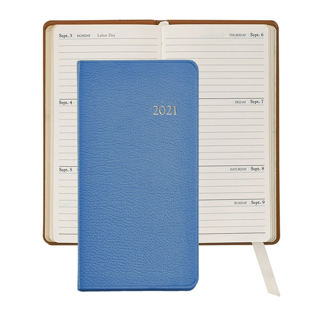 Graphic Image 2021 Pocket Journal, Light Blue Leather