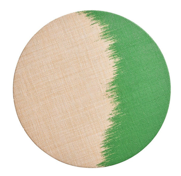Brushstroke Placemat, Natural/Green