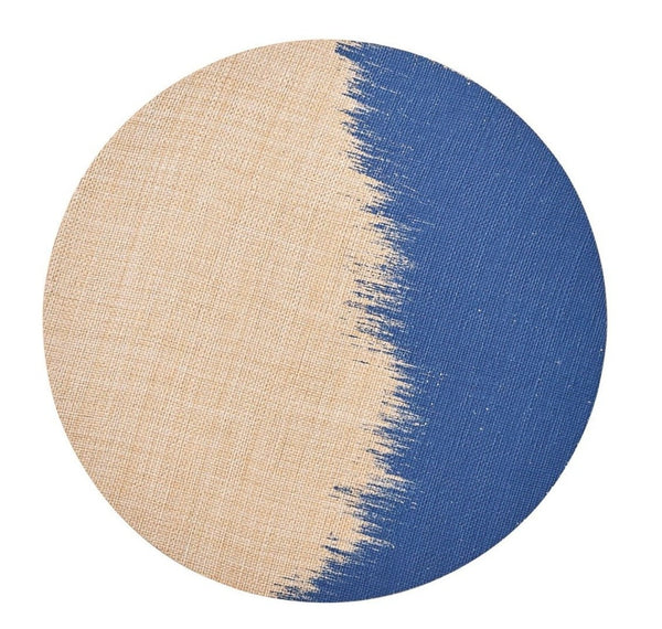 Brushstroke Placemat, Natural/Navy