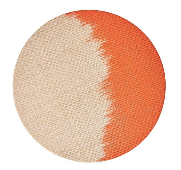 Brushstroke Placemat, Natural/Orange
