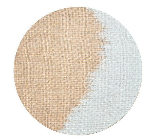 Brushstroke Placemat, Natural/White