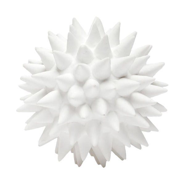 MG Irma White Porcelain Puffer Ball Object, Small