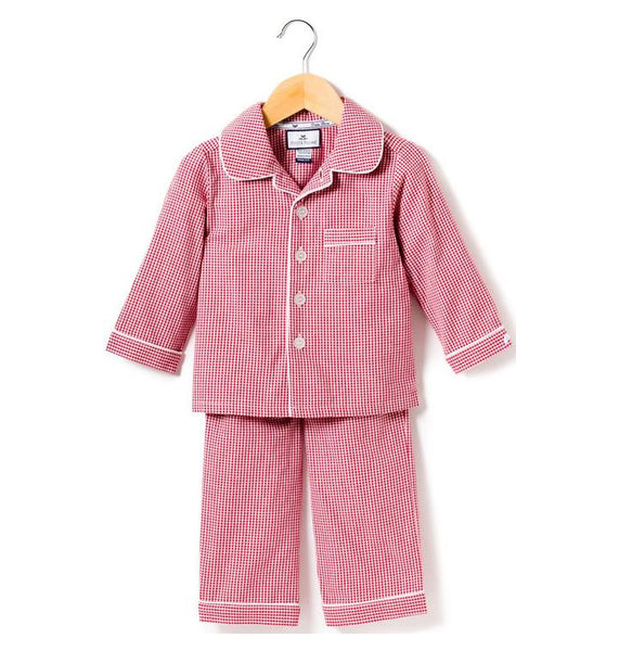 Childrens Red Mini Gingham Pajamas