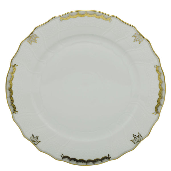 "Herend Princess Victoria Dinner Plate, Gray 10.5""D"