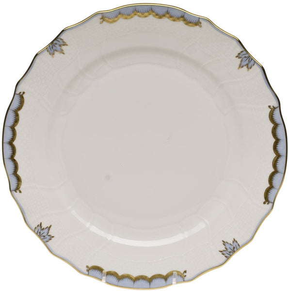 "Herend Princess Victoria Dinner Plate, Light Blue 10.5""D"