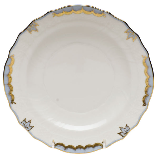 "Herend Princess Victoria Salad Plate, Light Blue 7.5""D"