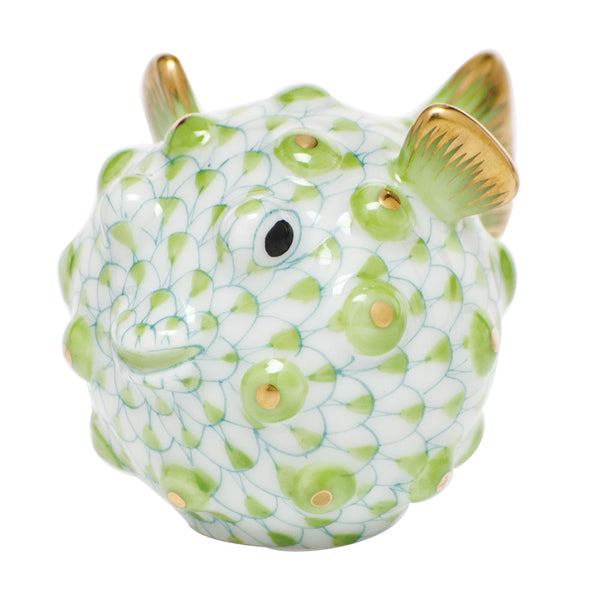 Herend Puffer Fish, Key Lime Green