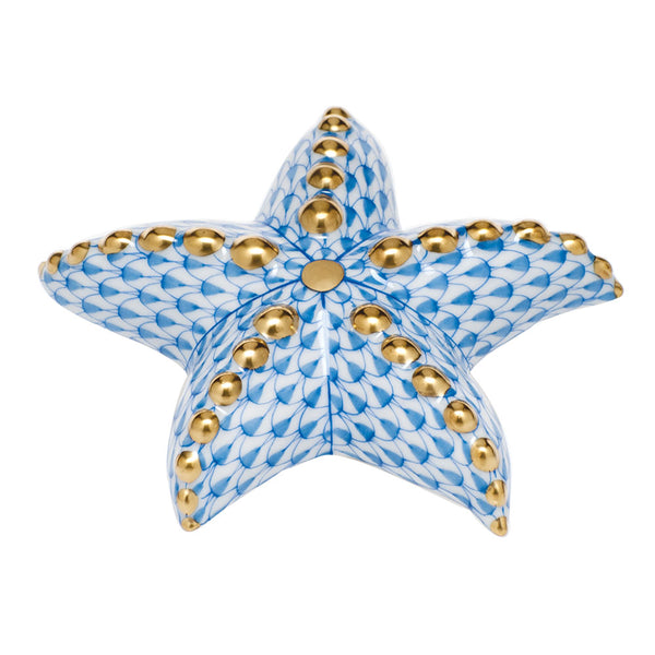 Herend Puffy Starfish, Blue