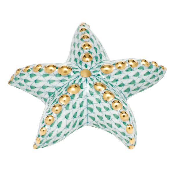 Herend Puffy Starfish, Green
