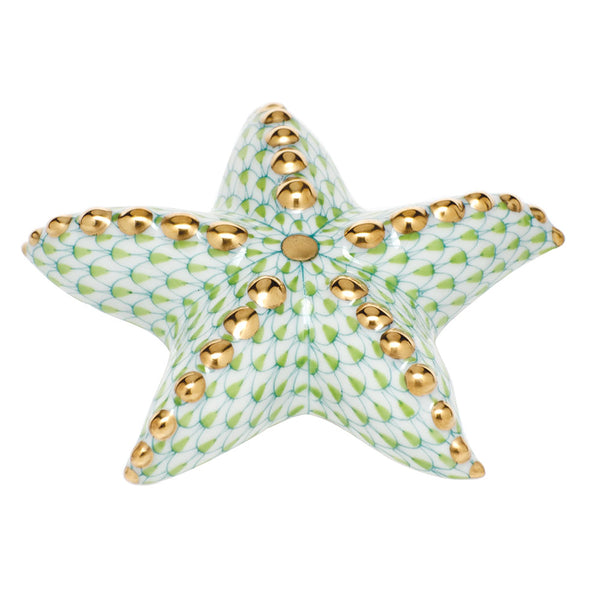 Herend Puffy Starfish, Key Lime Green