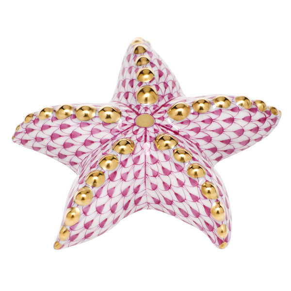 Herend Puffy Starfish, Raspberry Pink