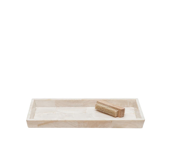 Pigeon & Poodle Palermo Large Tray, Clamstone