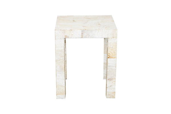 Parson Side Table, Kabibe Shell