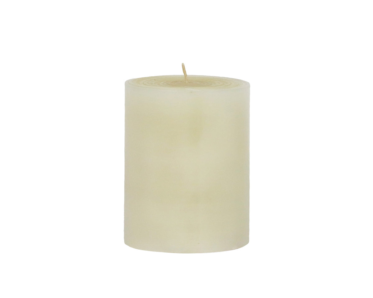 "4"" solid pillar candle, light natural"