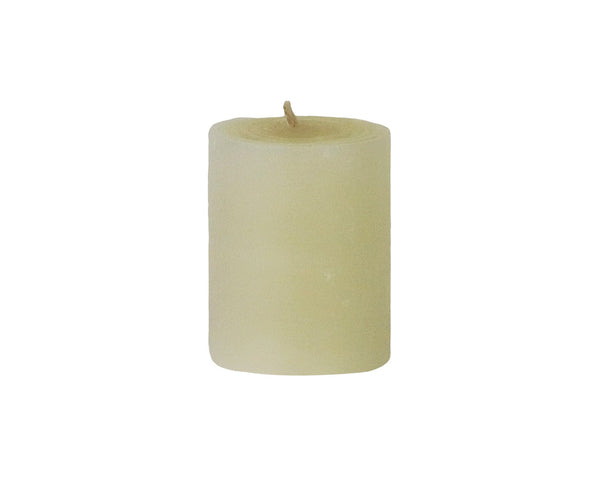 solid votive candles, light natural
