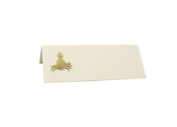 Gold Pineapple Place Cards