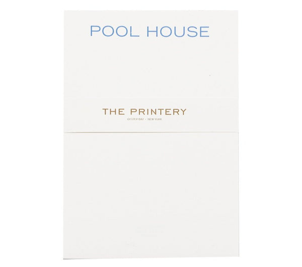 pool house notepad