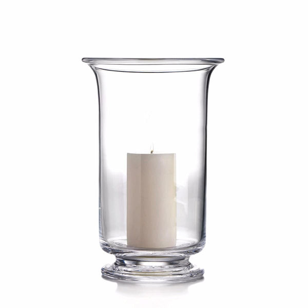 "Simon Pearce Revere Hurricane XLarge with Pillar Candle, 13"" X 8.25"""