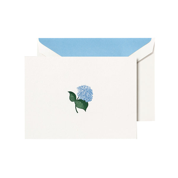 Crane - Blue Hydrangea Classic Note with Blue Lining