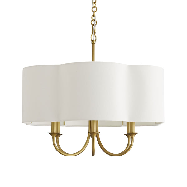 Rittenhouse Small Chandelier, Antique Brass