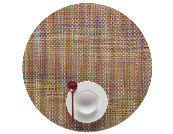 Round Placemat, Confetti, Mini Basketweave