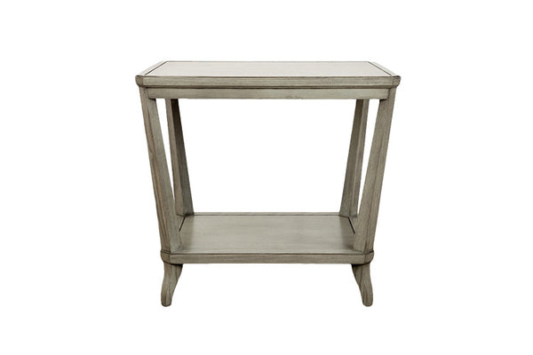 Rye Rectangular Side Table in Weathered Mineral