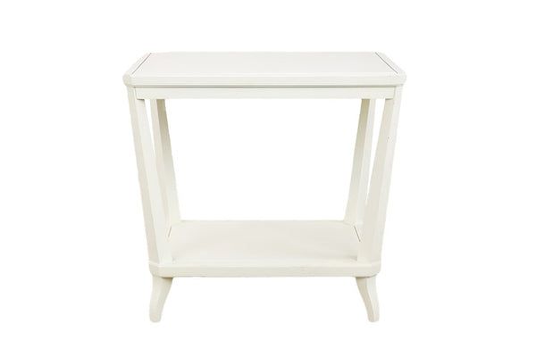 Rye Rectangular Side Table in White