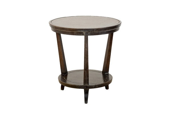 Rye Round Side Table in Ebony