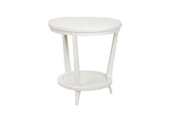 Rye Round Side Table in White
