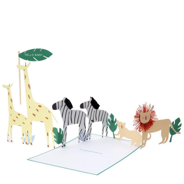 Baby - Safari Concertina Card